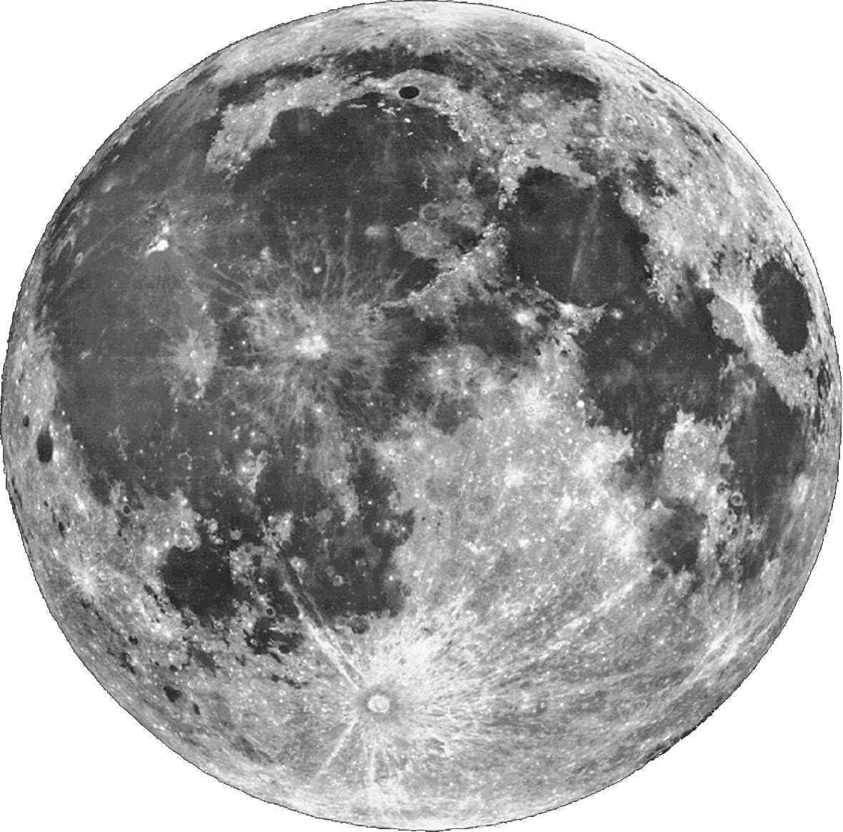This is an image of Revered Photoshop Moon Drawing